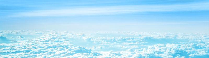 niebo ponad warstwą chmur