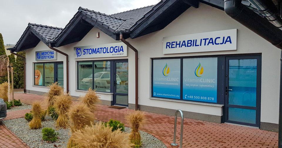 Gabinet Vitamin Clinic w Grodzisku Wlkp. przy ul. Poznańskiej 69. Widok z zewnątrz. https://vitaminclinic.eu/